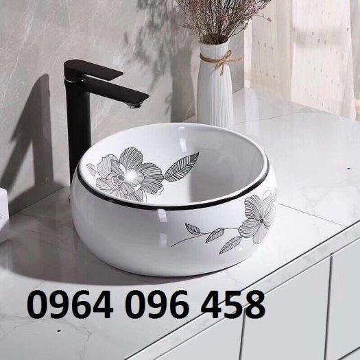 Chậu lavabo rửa mặt bàn đá - JD334