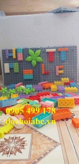 Bộ xếp hình lắp ghép LEGO gắn tường cho bé mầm non0