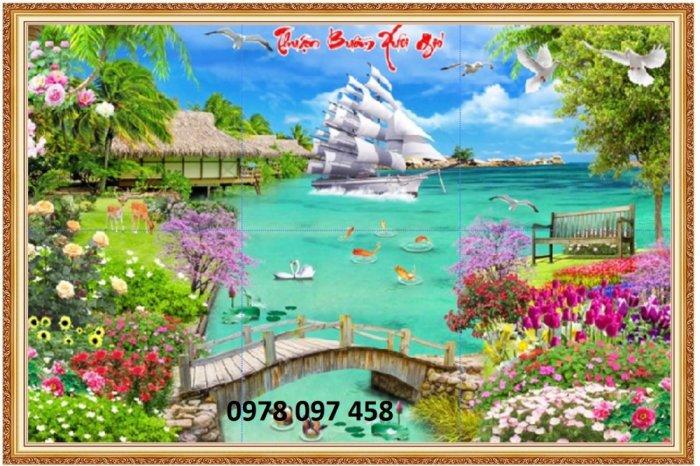 Tranh 3D phong cảnh - gạch tranh2