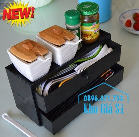 Cung cấp hộp đựng đũa muỗng nĩa bằng gỗ có ngăn kéo cho nhà hàng quán ăn6