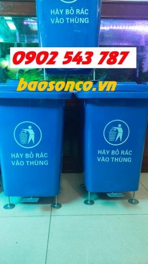 Thùng rác đạp chân 60 lít ,2