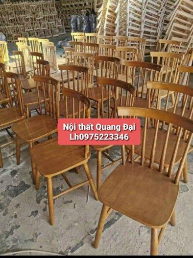 Bàn ghế gỗ sơn màu giá rẻ3