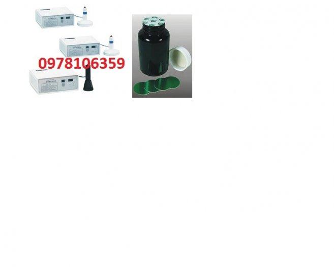 Máy dán màng seal thủ công, máy ép màng nhôm trên lọ thuốc, máy dán màng nhôm nắp chai nhựa0