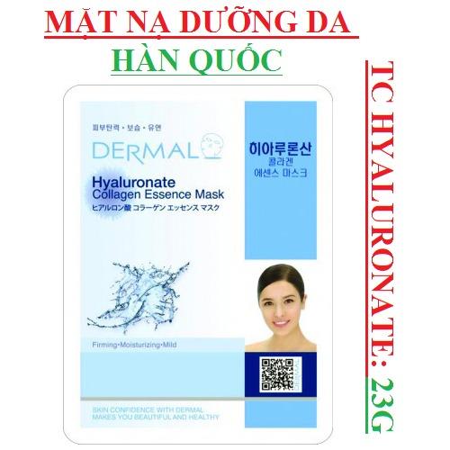 Mặt Nạ Dermal Tinh Chất Hyaluronate Dưỡng Ẩm Da Hyaluronate Collagen Essence Mask 23g - 10 Miếng1