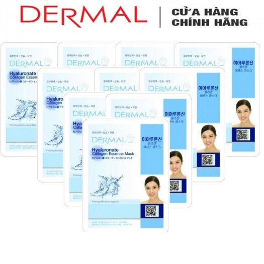 Mặt Nạ Dermal Tinh Chất Hyaluronate Dưỡng Ẩm Da Hyaluronate Collagen Essence Mask 23g - 10 Miếng0
