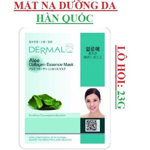 Mặt Nạ Dermal Tinh Chất Lô Hội Ngăn Ngừa Lão Hóa Da Aloe Collagen Essence Mask 23g - 10 Miếng0