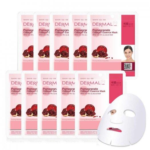 Mặt Nạ Dermal Tinh Chất Lựu Làm Săn Chắc Da Pomegranate Collagen Essence Mask 23g - 10 Miếng2