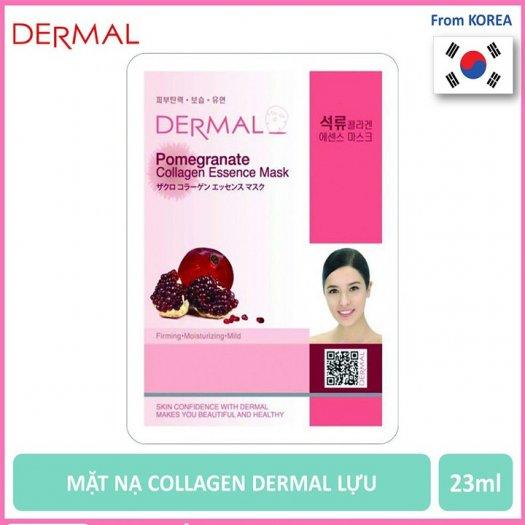 Mặt Nạ Dermal Tinh Chất Lựu Làm Săn Chắc Da Pomegranate Collagen Essence Mask 23g - 10 Miếng1