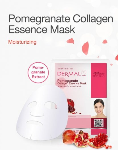Mặt Nạ Dermal Tinh Chất Lựu Làm Săn Chắc Da Pomegranate Collagen Essence Mask 23g - 10 Miếng0