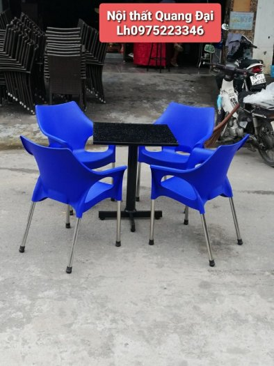 Thanh lý gấp bàn ghế nhựa cafe giá rẻ mới 100% hàng tồn kho..4