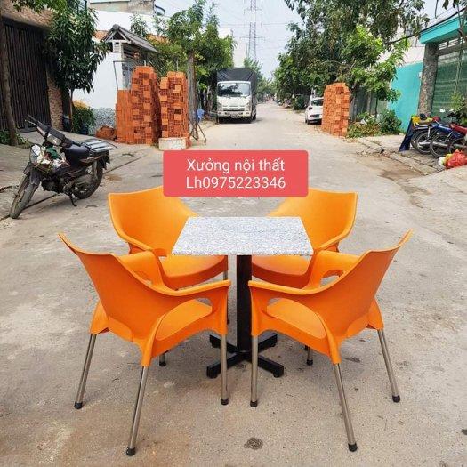 Thanh lý gấp bàn ghế nhựa cafe giá rẻ mới 100% hàng tồn kho..2