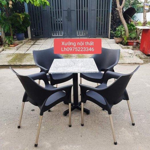 Thanh lý gấp bàn ghế nhựa cafe giá rẻ mới 100% hàng tồn kho..0