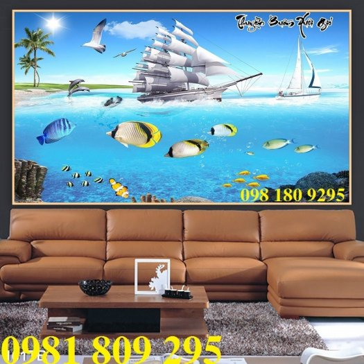 Thuận buồm xuôi gió 3d - gạch tranh 3d phong thủy3