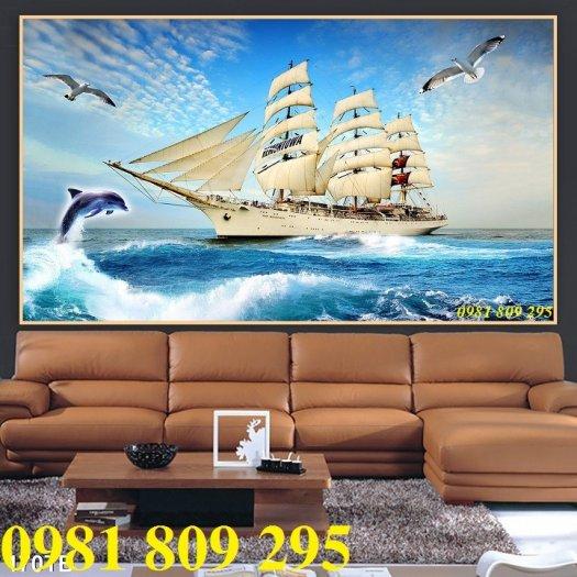 Thuận buồm xuôi gió 3d - gạch tranh 3d phong thủy2