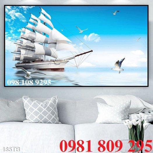 Thuận buồm xuôi gió 3d - gạch tranh 3d phong thủy1