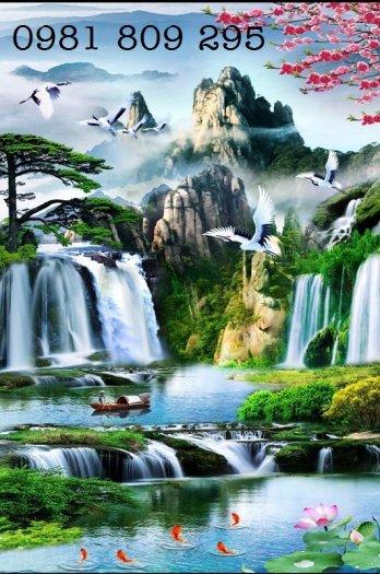 Tranh gạch thác nước - phong cảnh trang trí4