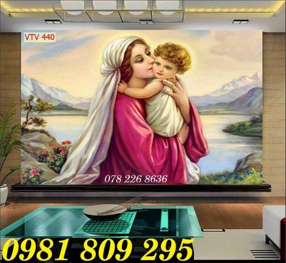 Gạch tranh công giáo - Đức Mẹ ôm con0