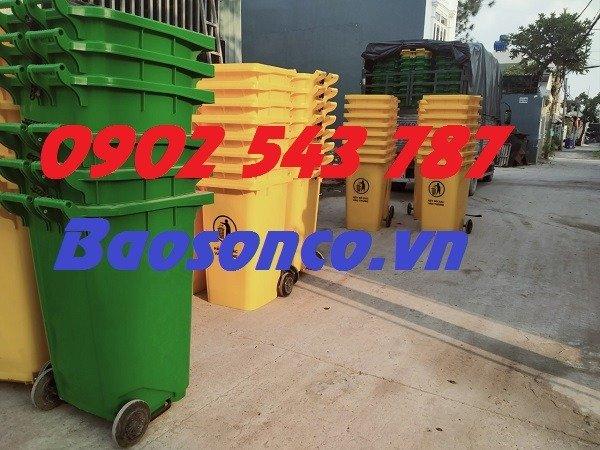 Thùng rác nhựa 120 lít giá rẻ toàn quốc3