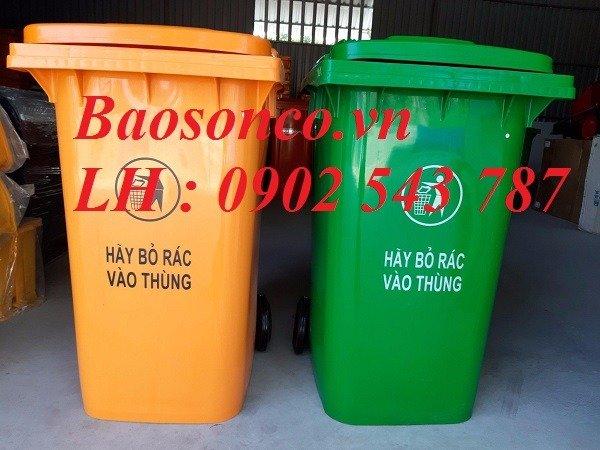 Thùng rác nhựa 120 lít giá rẻ toàn quốc1