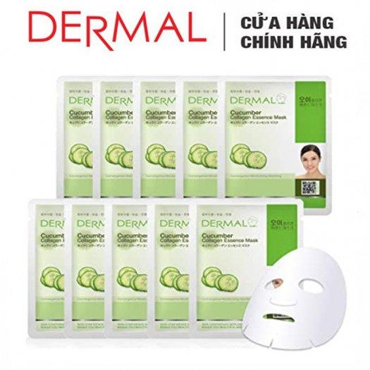 Mặt Nạ Dermal Tinh Chất Dưa Leo Dưỡng Ẩm Da Cucumber Collagen Essence Mask 23g - 10 Miếng3