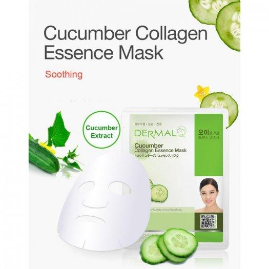Mặt Nạ Dermal Tinh Chất Dưa Leo Dưỡng Ẩm Da Cucumber Collagen Essence Mask 23g - 10 Miếng1