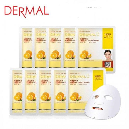 Mặt Nạ Dermal Tinh Chất Vitamin Làm Sáng Da Vitamin Collagen Essence Mask 23g - 10 Miếng2