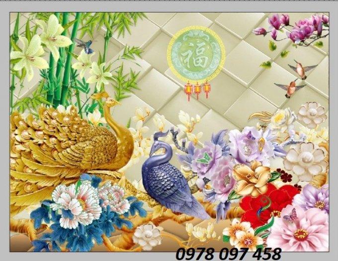 Tranh trang trí phòng ngủ- tranh gạch men1