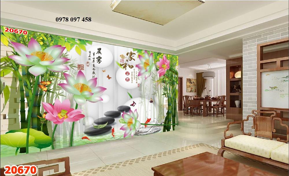 Tranh hoa 3D - tranh gạch men ốp tường2