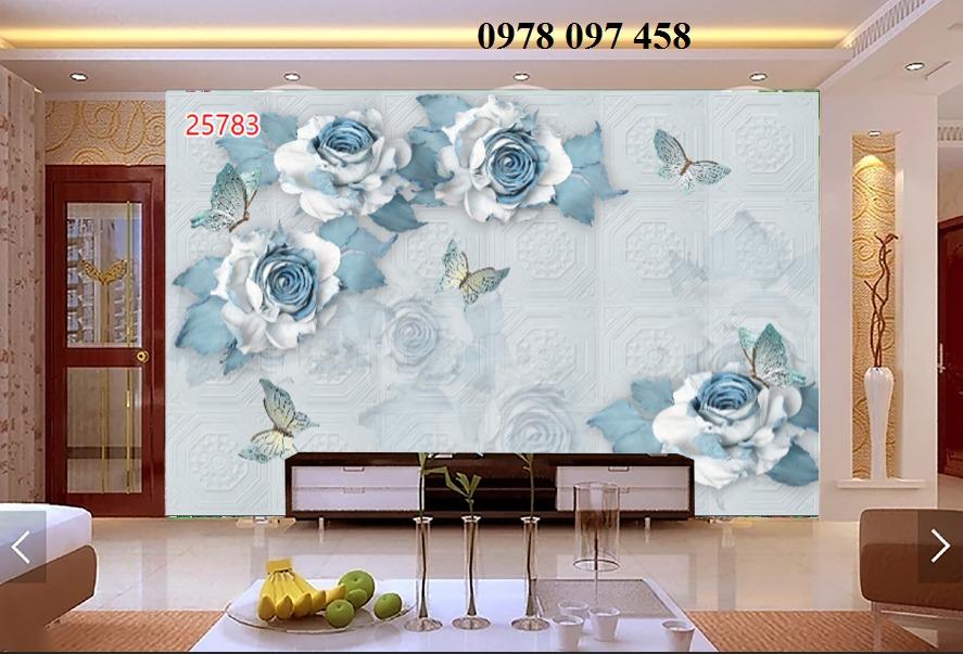 Tranh hoa 3D - tranh gạch men ốp tường1
