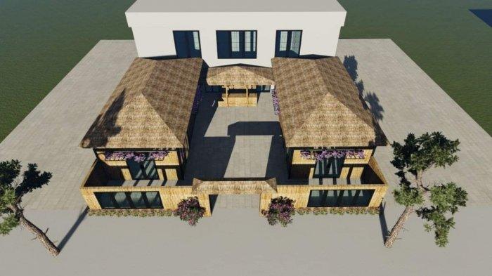Mẫu trang trí nhà hàng bằng mây tre3
