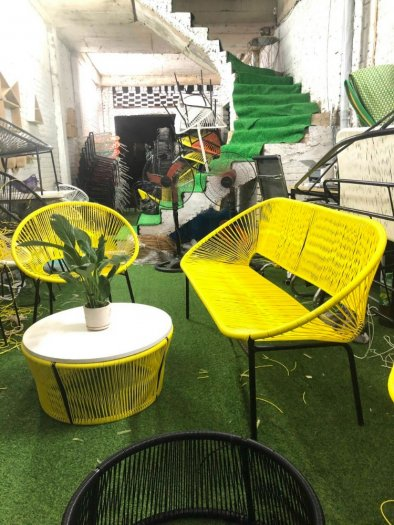 Bộ đôi ghế nhựa giả mây lạ độc giá rẻ6