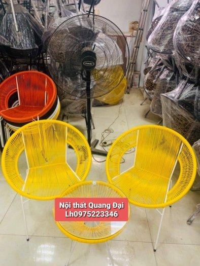 Bộ đôi ghế nhựa giả mây lạ độc giá rẻ5