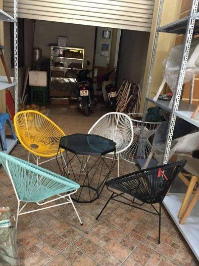 Bộ đôi ghế nhựa giả mây lạ độc giá rẻ4