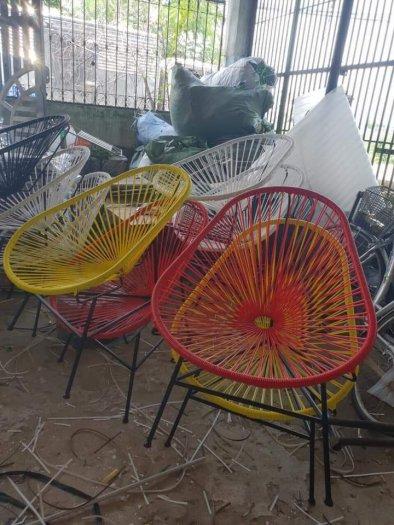 Bộ đôi ghế nhựa giả mây lạ độc giá rẻ2