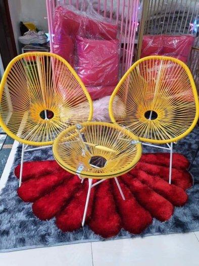 Bộ đôi ghế nhựa giả mây lạ độc giá rẻ1
