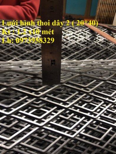 Lưới hình thoi - lưới chám - lưới dập giãn dây 1 (10*20),1.5 (15*30),2 ( 20*40),3(30*60) ,( 45*90) , làm trang chí , sàn thao tác10