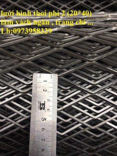 Lưới hình thoi - lưới chám - lưới dập giãn dây 1 (10*20),1.5 (15*30),2 ( 20*40),3(30*60) ,( 45*90) , làm trang chí , sàn thao tác8