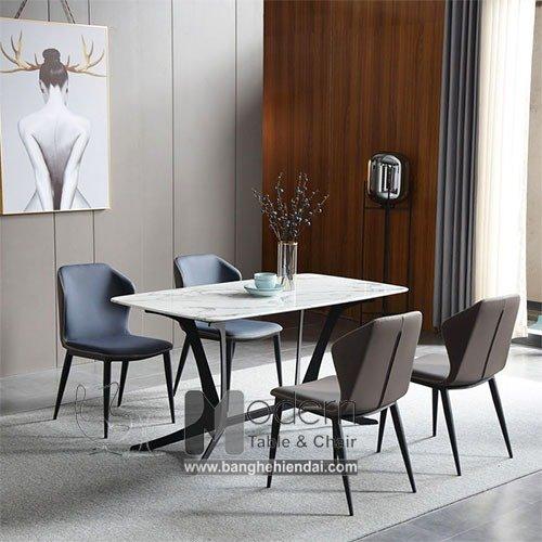 Bộ bàn ghế ăn mặt đá 1m6 dành cho 4 người hiện đại TN Ronto Eco 4A0