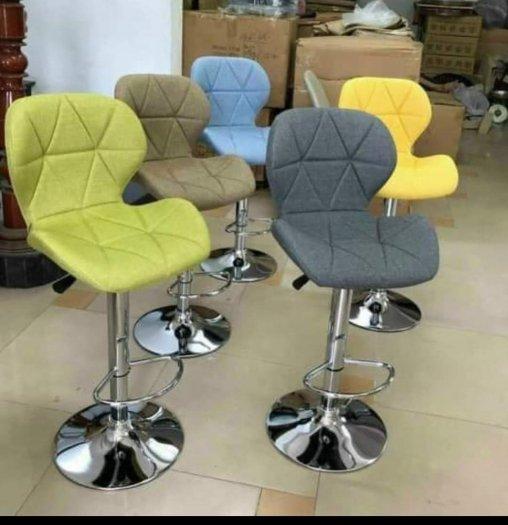 Ghế quầy Bar bọc nệm nhiều màu chân inox3