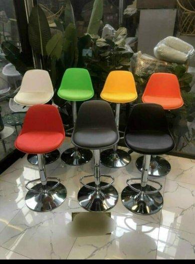 Ghế quầy Bar bọc nệm nhiều màu chân inox2