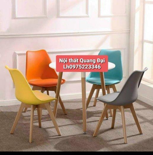 Ghế cao cấp cafe nhựa chân gỗ bọc nệm giá rẻ nhất5