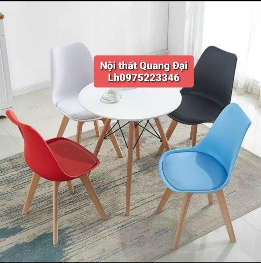 Ghế cao cấp cafe nhựa chân gỗ bọc nệm giá rẻ nhất4