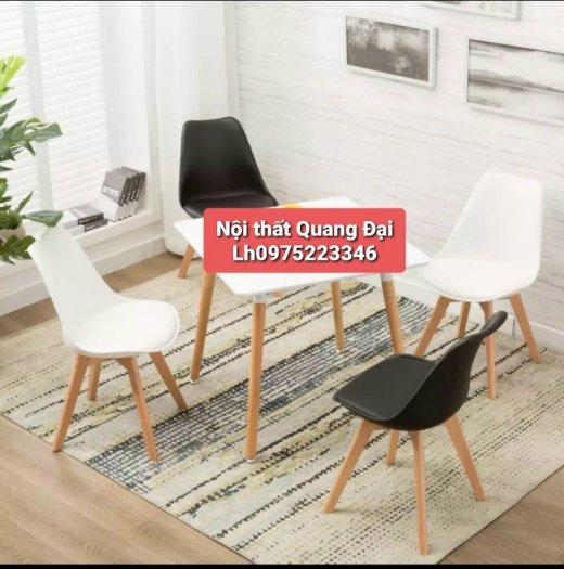 Ghế cao cấp cafe nhựa chân gỗ bọc nệm giá rẻ nhất0