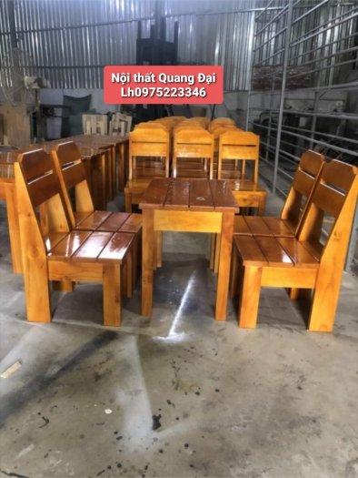Bộ bàn ghế gỗ cóc thanh lý giá siêu rẻ