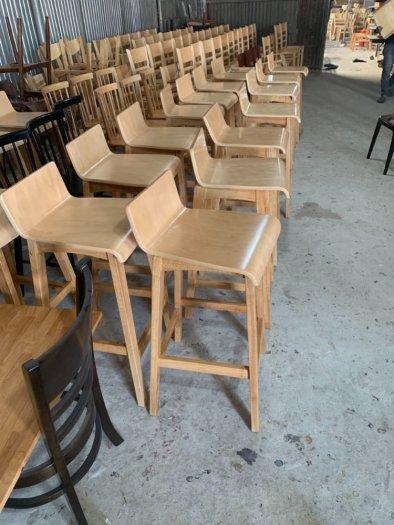 Ghế quầy gỗ đẹp giá tại xưởng Nội Thất Quang Đại1