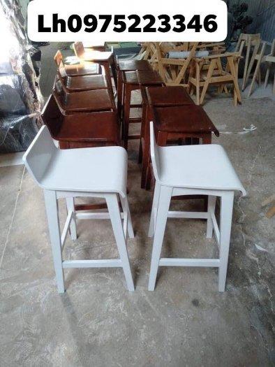 Ghế quầy gỗ đẹp giá tại xưởng Nội Thất Quang Đại0