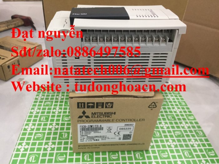 Bộ điều khiển FX3u-32MT es/a , mới 100% - Công Ty NATATECH1