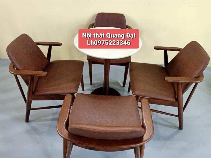 Những mẫu bàn ghế gỗ Cafe đẹp và bền tốt1