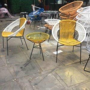 Bộ đôi ghế nhựa giả mây lạ độc giá rẻ0