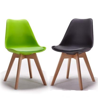 Ghế nhựa chân gỗ có niệm cao cấp Ak0
